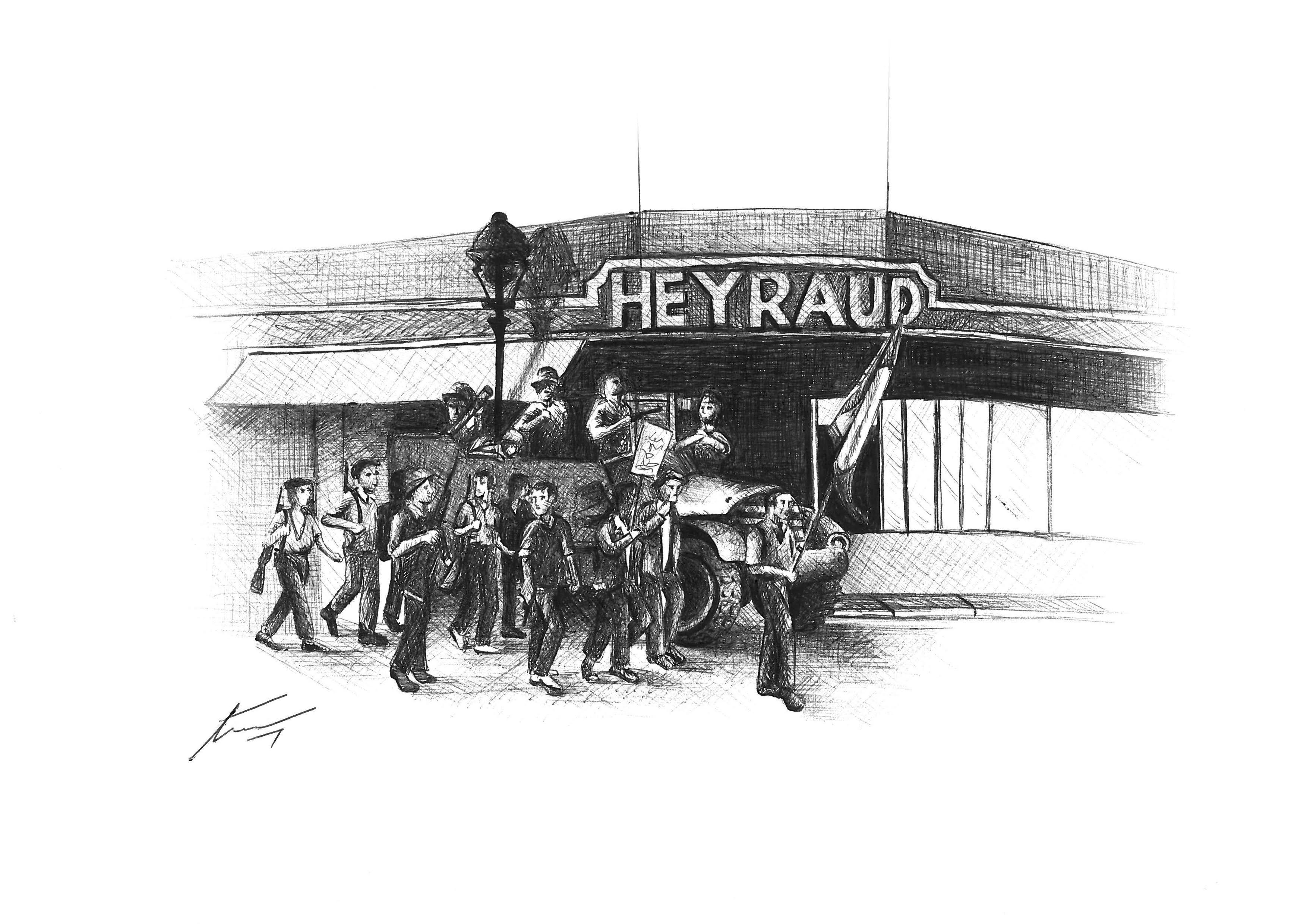 Dibujo de Héctor Herrería